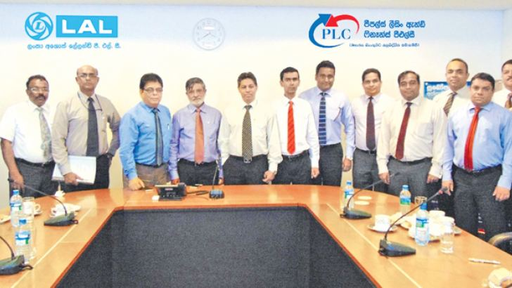 D.P. Kumarage CEO and GM, A. Sabry Ibrahim, CEO designate and other Senior Management of PLC. Umesh Gautam, CEO Lanka Ashok Leyland and Senior Management were also present at the occasion.