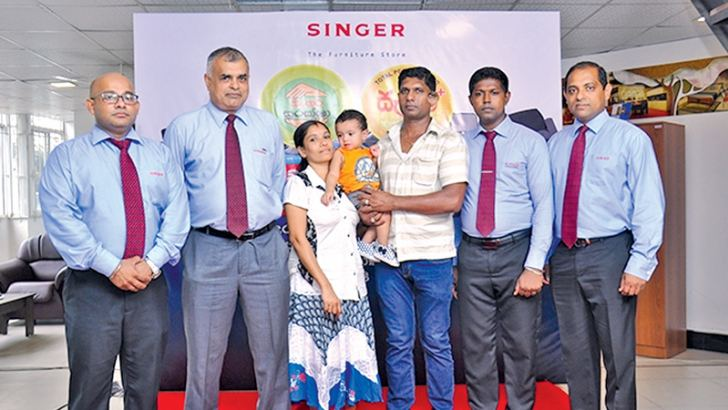 Roshan Fernando Manager Extended Warranty, Janaka Mendis Director Credit, Tineshkar Family, Niroshana Ilangakoon Branch Manager - Singer Homes, Indika Gunathilake Business Development Manager - Mega and Singer Homes.