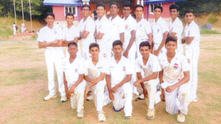 Lyceum International School Nugegoda Under 15 Division Two Cricket Pool – 2017.   Squatting (from left) Sithika Wickramasinghe, Danal Nichitha, Naveen Pahasara Danuka Gurusinghe, Sonal Kodikara. Standing (from left) Sadushka Senarath, Hansaja Bandara, Chanode Dewhan, Lashawn de Mel, Jason Cruse, Dimuthu Keshan, Hemaka Gunasekera, Lakindu Sachin, Danuja Aluwihare, Kaushal Mendis (Captain).   Absent – Prasad Jeewantha (Master-in-charge) Lal Senarathne (Head Coach), Thinal Pethiyagoda, Raveen Weerarathne, Josh