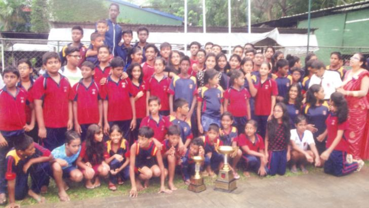 The champions – Regent International School Gampaha team. Picture by Mahanama Vithanage, Malwana Group Correspondent
