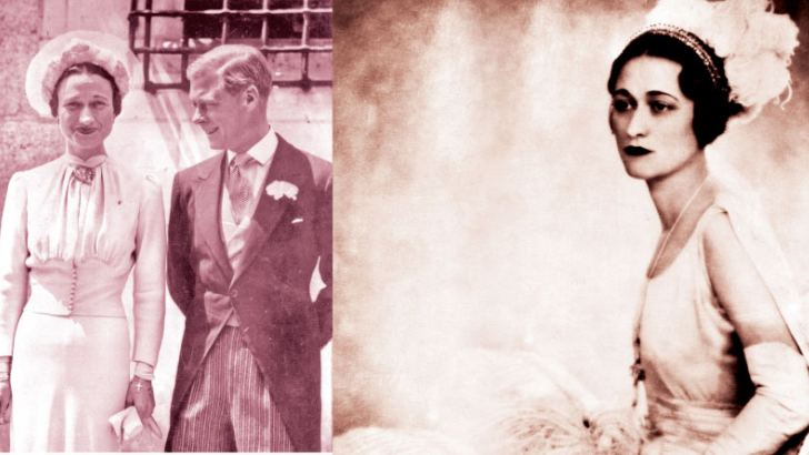 Edward VIII and Wallis Simpson on their wedding day in 1936 near Tours, France
