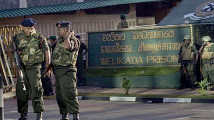 STF personnel at the Welikada prison on the day of the riot.