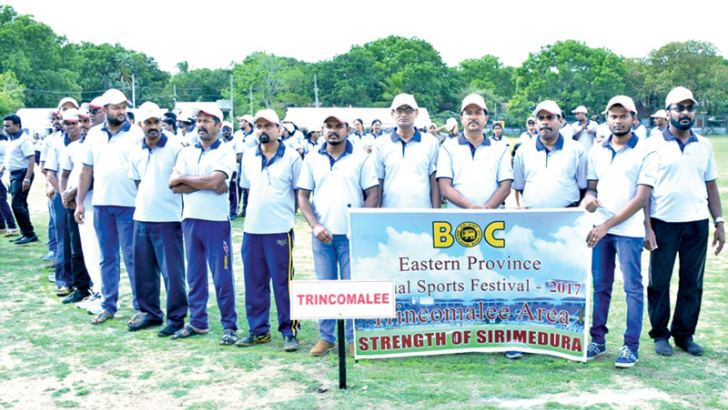 The champion Bank of Ceylon Trincomalee district staff team
