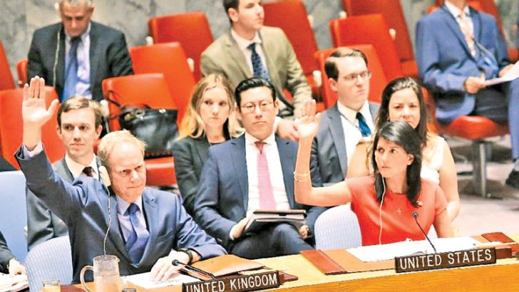"""US Ambassador Nikki Haley told the council that the stiffer measures brought the penalty imposed on North Korea for its ballistic missile tests """"to a whole new level"""" and that the council had put leader Kim Jong-Un """"on notice."""" - AFP"""