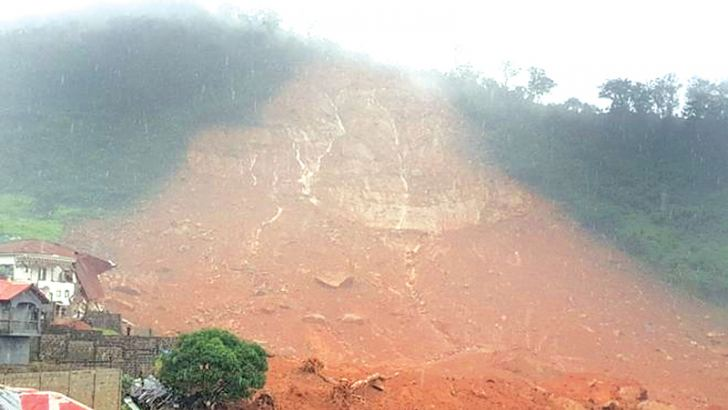 A mudslide in Regent, east of Freetown.