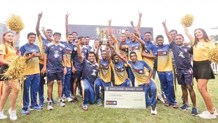 The champion SSC team that won the Singapore T20 for the third time.