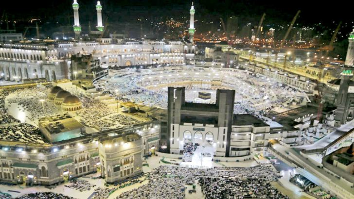 Muslim pilgrims circumambulate the Kaaba, Islam's holiest shrine, at the Grand Mosque in Saudi Arabia's Holy City of Mecca on Sunday, prior to the start  of the annual Hajj pilgrimage. - AFP