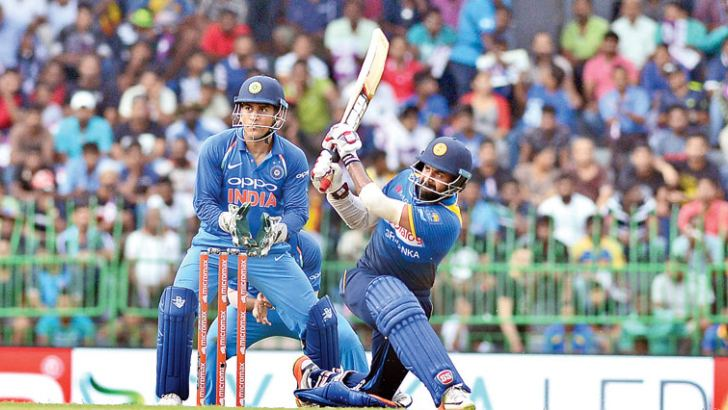 The comeback of Lahiru Thirimanne to international cricket was one of the redeeming features for Sri Lanka.  Pic by Rukmal Gamage