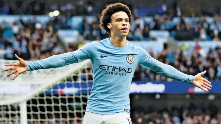 Leroy Sane  celebrates scoring his sides first goal (Getty Images)