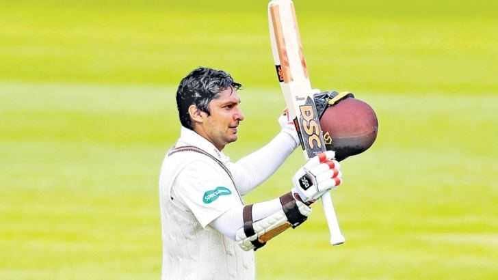 Kumar Sangakkara leaves the KIA Oval for the final time after being dismissed for 35 in the second innings during Surrey's successful run chase against Somerset