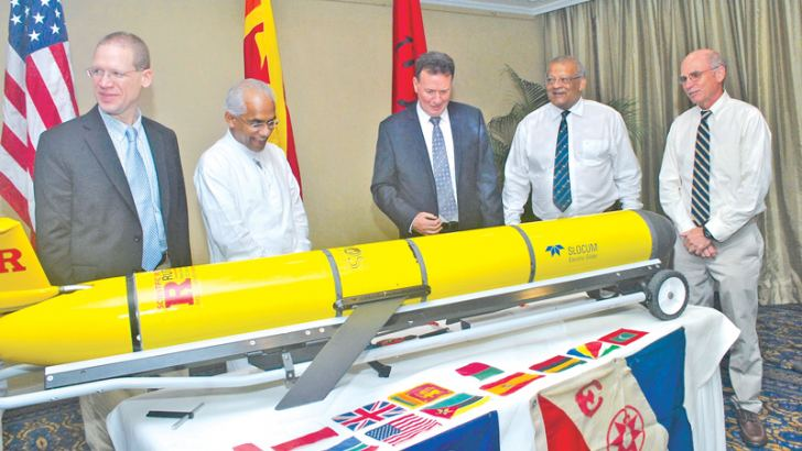 Finance State Minister Eran Wickramaratne inspecting the Glider along with other officials. Picture by Siripala Halwala