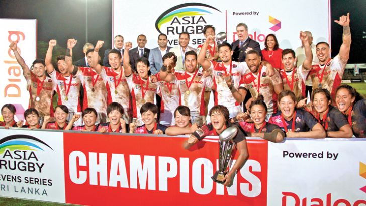 Overall men's and women's champions Japan celebrating their achievement. Pictures by Wasitha Patabendige