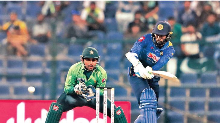 Sri Lanka captain Upul Tharanga who scored a defiant unbeaten century in a lost cause.