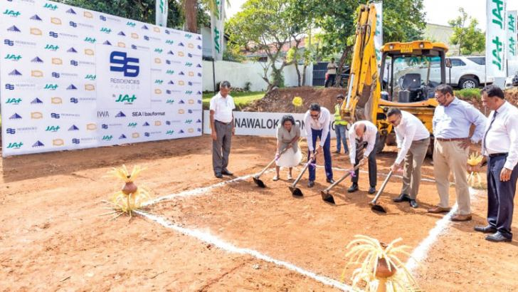 Ground breaking at '96 Residencies' at the auspicious hour