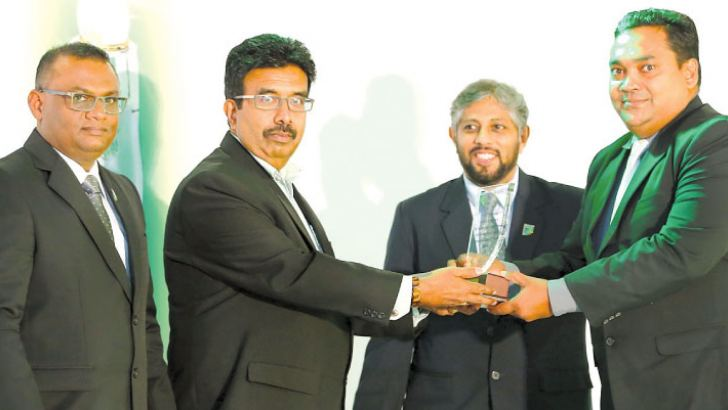 Tesman Antony Jude Maloney, the Founder, Managing Director and Chief Executive Officer of M I Synergy receiving the award.