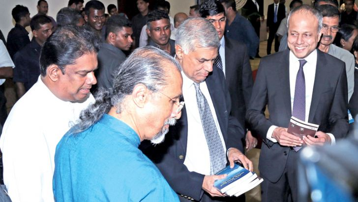 Saman with Prime Minister Ranil Wickremesinghe, Lands and Parliamentary Reforms Minister Gayantha Karunatileka and Law and Order and Southern Development Minister Sagala Ratnayake