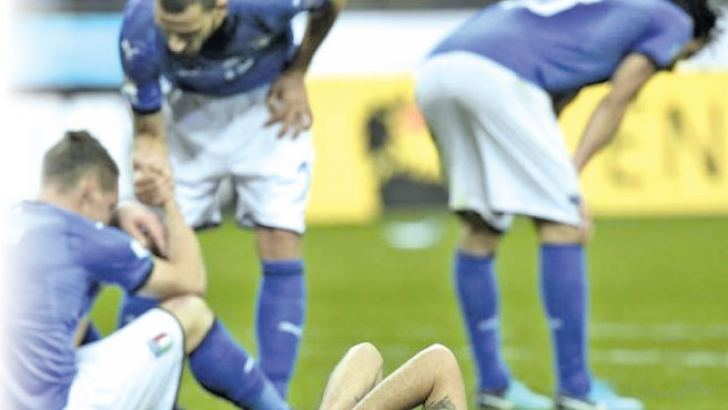 Italy failed to reach the World Cup for the first time since 1958 on Monday as they were held to a 0-0 draw in the second leg. AFP
