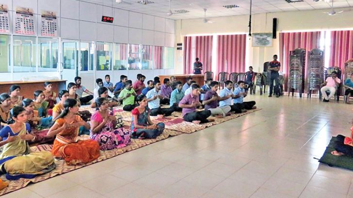 Yogi Leelananda Wickramarachchi headed the training programme, attended by 55 employees at the Divisional Secretariat, including heads of different sections in the DS.
