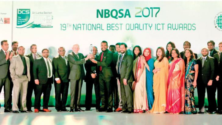 CAMMS team receiving the Gold award at 2017 National Best Quality ICT Awards (NBQSA) for the Project Management solution, cammsproject