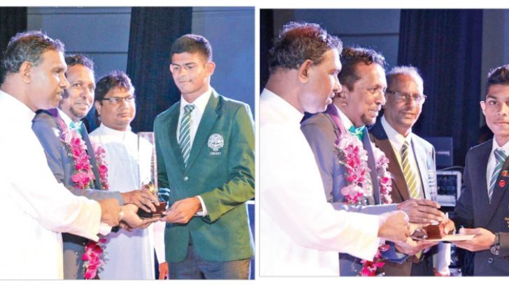 Sportsman of the Year Geethal Fernando receiving the award-Thiran Ravindra Indrajith won the Benedictine spirit award