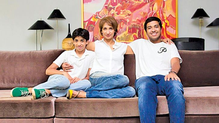 Otara with her sons