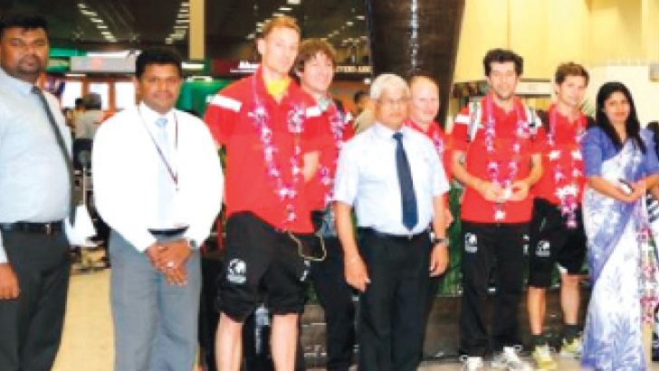 Football Without Borders' team being welcomed at BIA