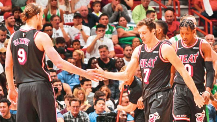 Goran Dragi led the way for the HEAT with 27 points