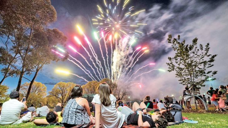 New Year celebrations in Australia.