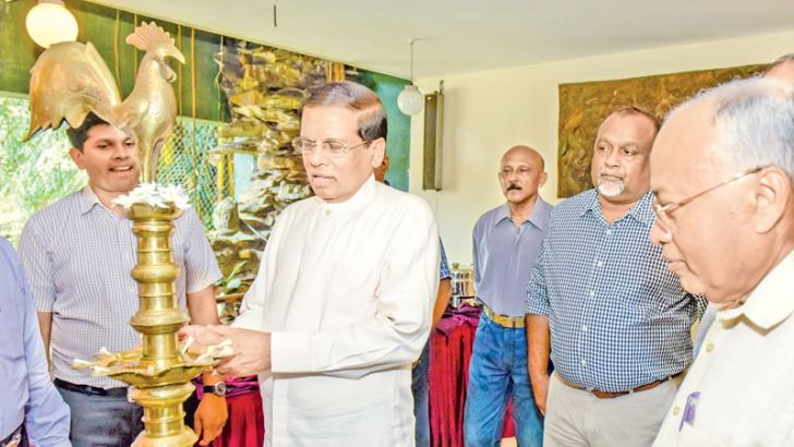 President Sirisena at the function.