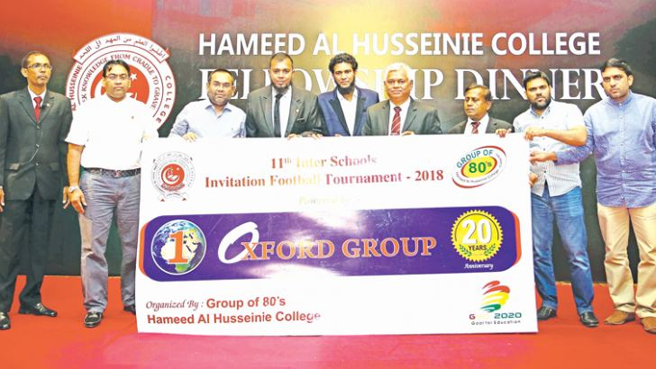 The organizers and sponsors of the President's Cup Soccer Tournament Oxford Group are seen here.