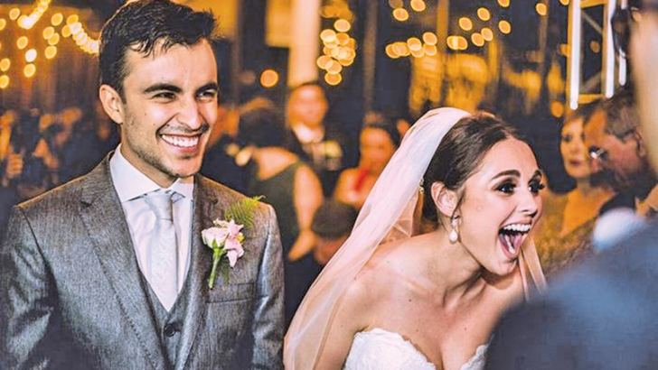 Marília and Matheus Pieroni react to Snoop at their wedding