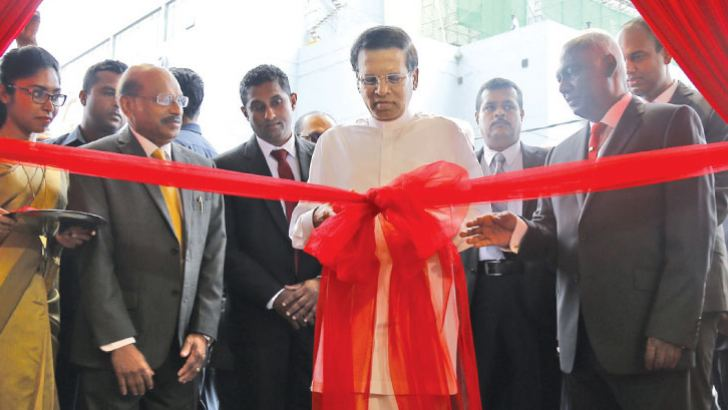 President Maithripala Sirisena opening the new specialist centre