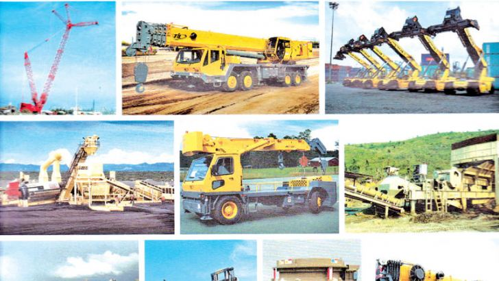 Construction equipment used in Sri Lanka
