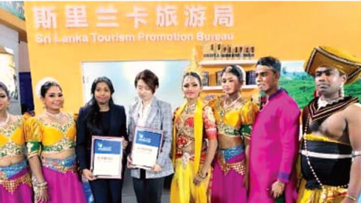Some of the winners at the Sri Lanka stand in China