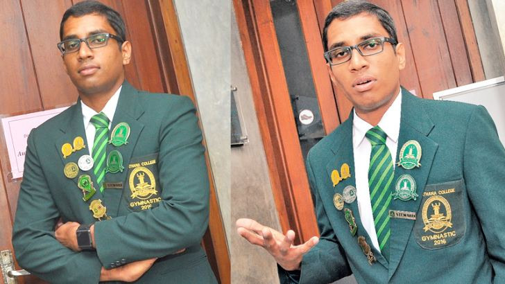 Head Boy of Isipathana Janith Pasindu. Pictures by Thushara Fernando