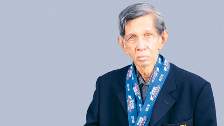 Dr. Nimal Lucas with his medals