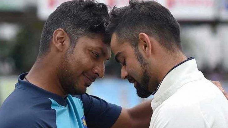 Two legends Kumar Sangakkara and Virat Kohli.