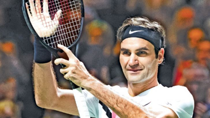 Switzerland's Roger Federer celebrates after his win over Italy's Andreas Seppi in the Rotterdam semi-finals. - AFP
