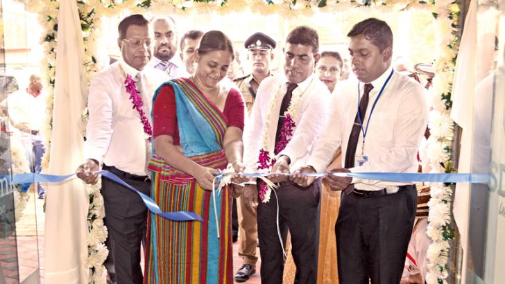 SDB bank's new branch in Galewela opened by SDB bank's GM and CEO Nimal C. Hapuarachchi, SDB bank's Chairperson Samadanie Kiriwandeniya and Galewela Divisional Secretary M.U.Nishantha.