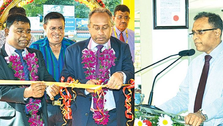 BOC Chairman, Ronald C. Perera and General Manager D.M. Gunasekera and other officials at the opening of the branch in Balangoda.
