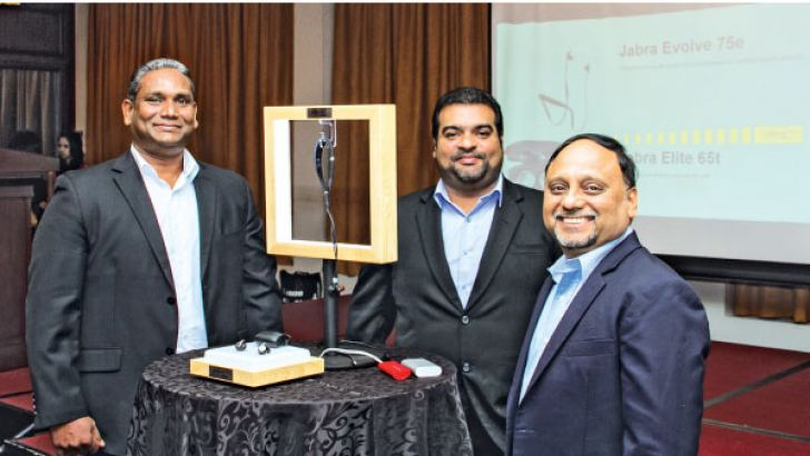Officials at the product launch